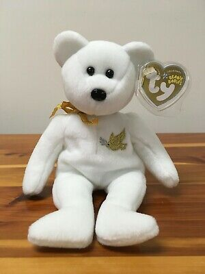 MWMTs Stuffed Toy TY Beanie Baby HOLY FATHER the Bear Gold Hang Tag 8.5 inch
