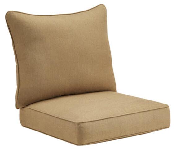 Canvas Chili Solid Patio Chair Cushion