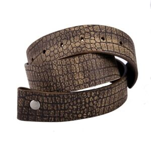 Tobacco-Road-American-Leather-Brown-Crocodile-texture-Belt-Made-in-USA