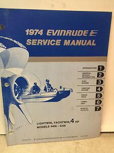 1974 omc johnson evinrude outboard motor service manual lightwin rh ebay com Evinrude 4 HP Outboard Motor Yamaha 4 HP Outboard Motor