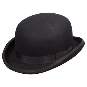 bba23684d15 Mens Scala Low Crown Wool Felt Bowler Derby WF507