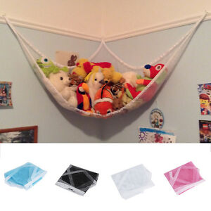 Kids-Room-Toys-Stuffed-Corner-Net-Large-Storage-Pet-Plush-Hammock-Holder-YY