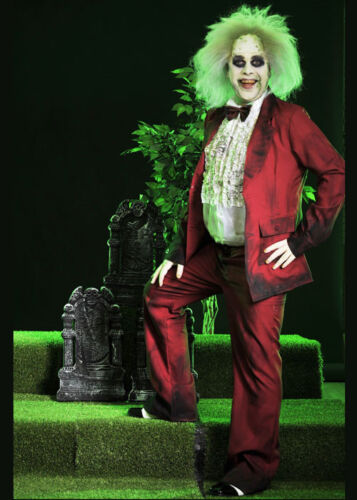 Adult Mens Beetlejuice Wedding Suit Style Costume