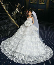 Fashion Princess Party Dress//Wedding Clothes//Gown+Veil For 11.5in.Doll K02B