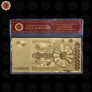 WR-European-1-Million-Euro-Note-24K-Gold-Foil-Novelty-Banknote-Money-In-COA-Case