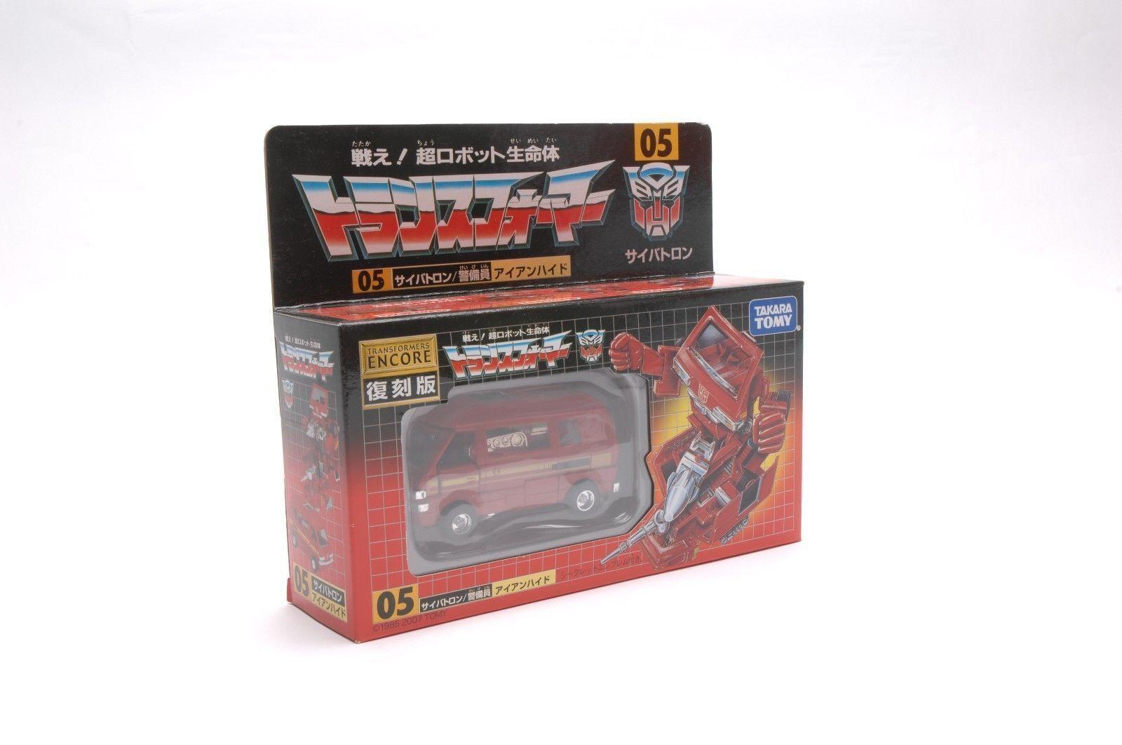 G1 REISSUE Transformers Autobot Security IRONHIDE Van Robot SEALED Geschenken