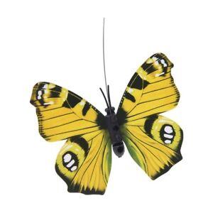 6X-Papillon-flottant-en-plastique-avec-panneau-solaire-energie-de-diverses-cou-F
