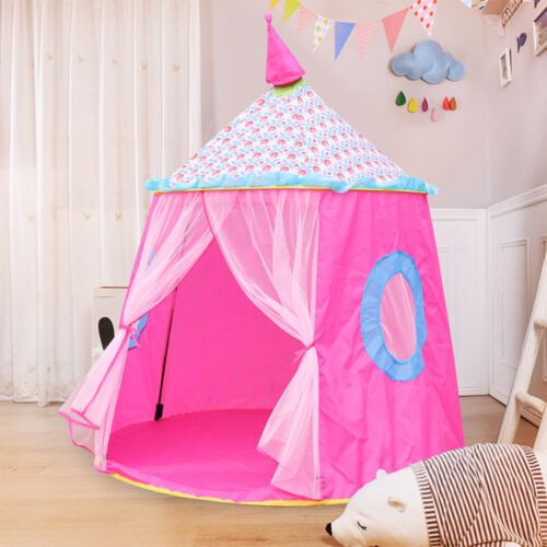 Pink Princess Castle Play House Large Indoor//Outdoor Kids Girl Play Tent Folding