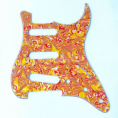 Red Shell SSS Pickguard Scratch Plate 3 Ply for Fender Strat Electric Guitar