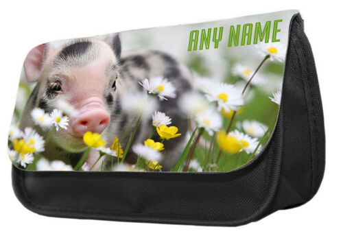 Personalize Pencil Case-Baby Pig in farm,pencil case.make up case,back to school