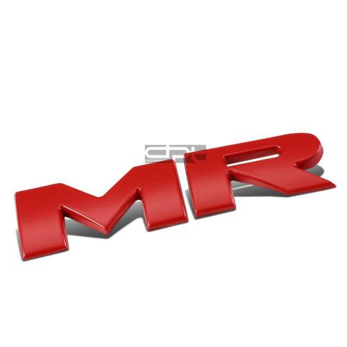 Fit Mit Evo Mr Metal Bumper Trunk Grill Fender Emblem Decal Logo Trim Badge Red