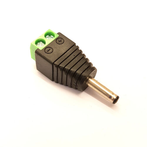 MALE 3.5mm x 1.3mm x 10mm DC JACK QUICK FIX NO SOLDER SCREW TERMINAL Android etc