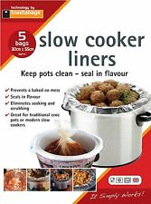 Slow COOKER & CROCK Pot FODERE 5 Pack. Keep Your Slow Cooker Clean