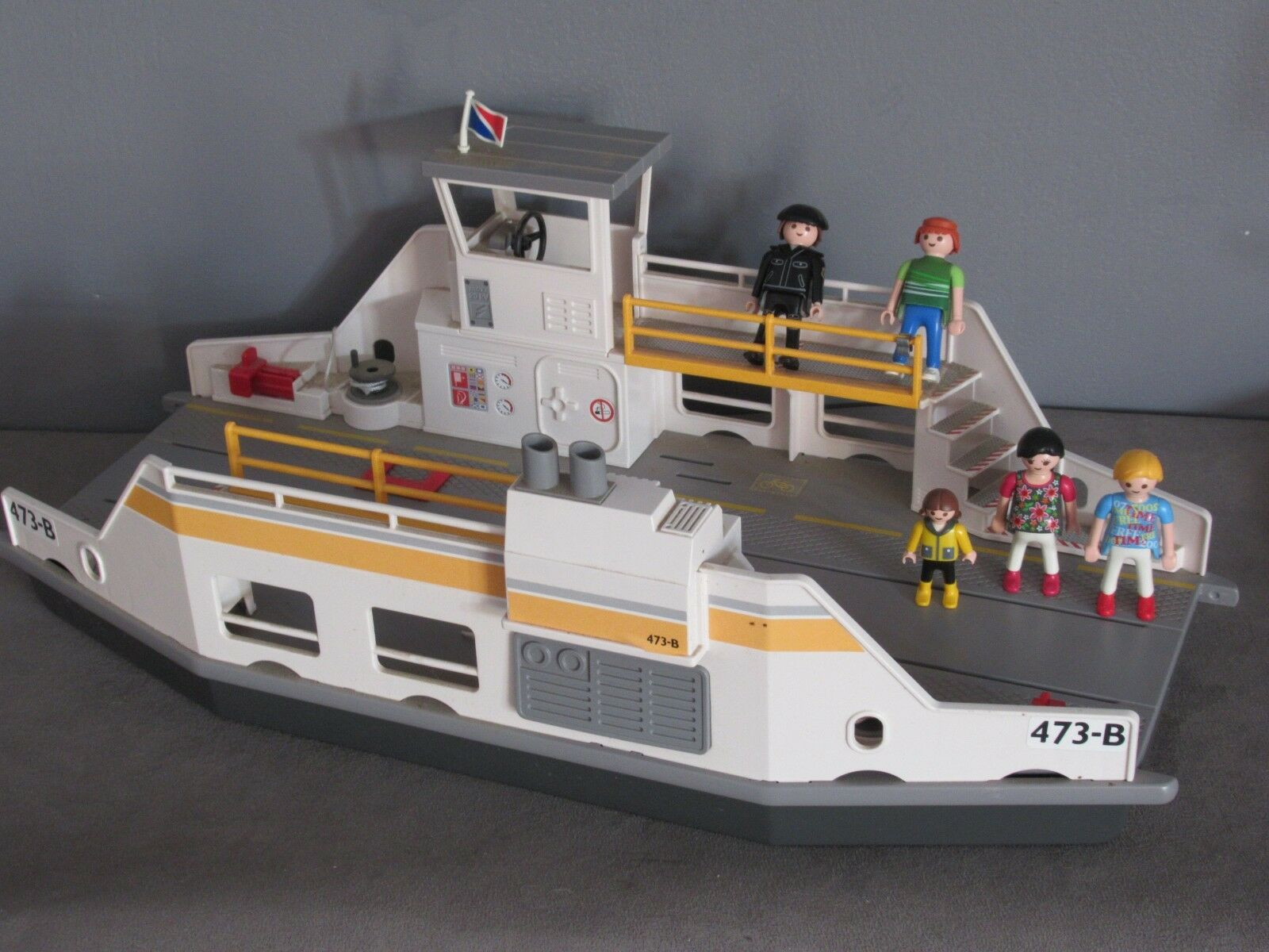 Playmobil 5127 Bateau Barge Bac plate-forme - 5 personnages
