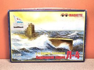 1/400 MAQUETTE L-4 RUSSIAN SUBMARINE MODEL KIT # MQ-4005