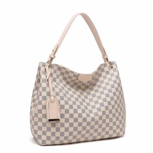 Various colours Designer Inspired Checker board Slouch bag