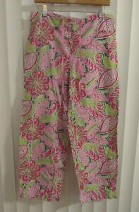 Womens-VERA-BRADLEY-Pinwheel-Pink-Paisley-Floral-Lounge-Pajama-Pants-M-G39