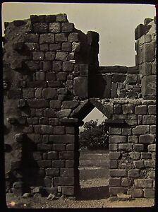 Glass-Magic-Lantern-Slide-JARROW-OLD-CHURCH-RUINS-NO2-C1890-PHOTO-ENGLAND