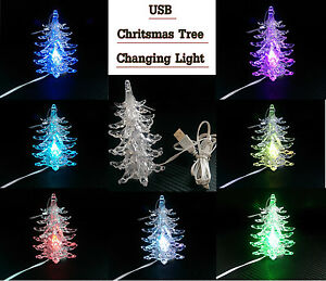 image is loading usb christmas tree colour changing led lights xmas