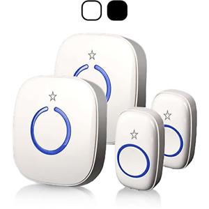 STARPOINT Expandable Wireless Multi-Unit Long Range Doorbell Chime Alert System,