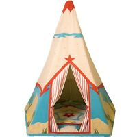 Fabric Cowboy Style Wigwam Play Tent / Teepee / Play House By Win Green