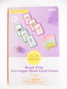 Sun Squad Road Trip Scavenger Hunt Card Game for Travel - 52 Pieces - 1 Set