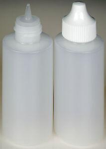 100-Pack Plastic Spout Lid Dropper//Applicator Bottle w//Blue Overcap New 1-oz.