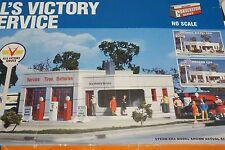 HO Scale Walthers Cornerstone Kit 933-3072 Al's Victory Service Gas STation