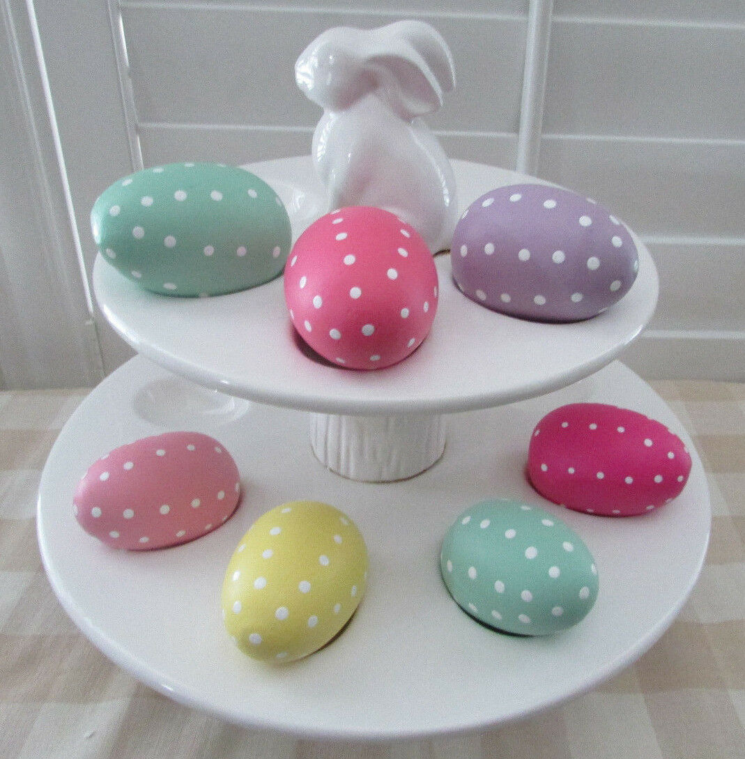 Rare Retirot Pottery Barn Kids Kids Kids Ceramic Tierot Easter Egg Stand- NIB 741830