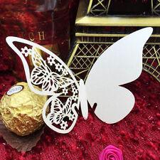 50Stk Platzkarten Schmetterling ans Glas Tischkarten Namenskarten Hochzeit Dekor