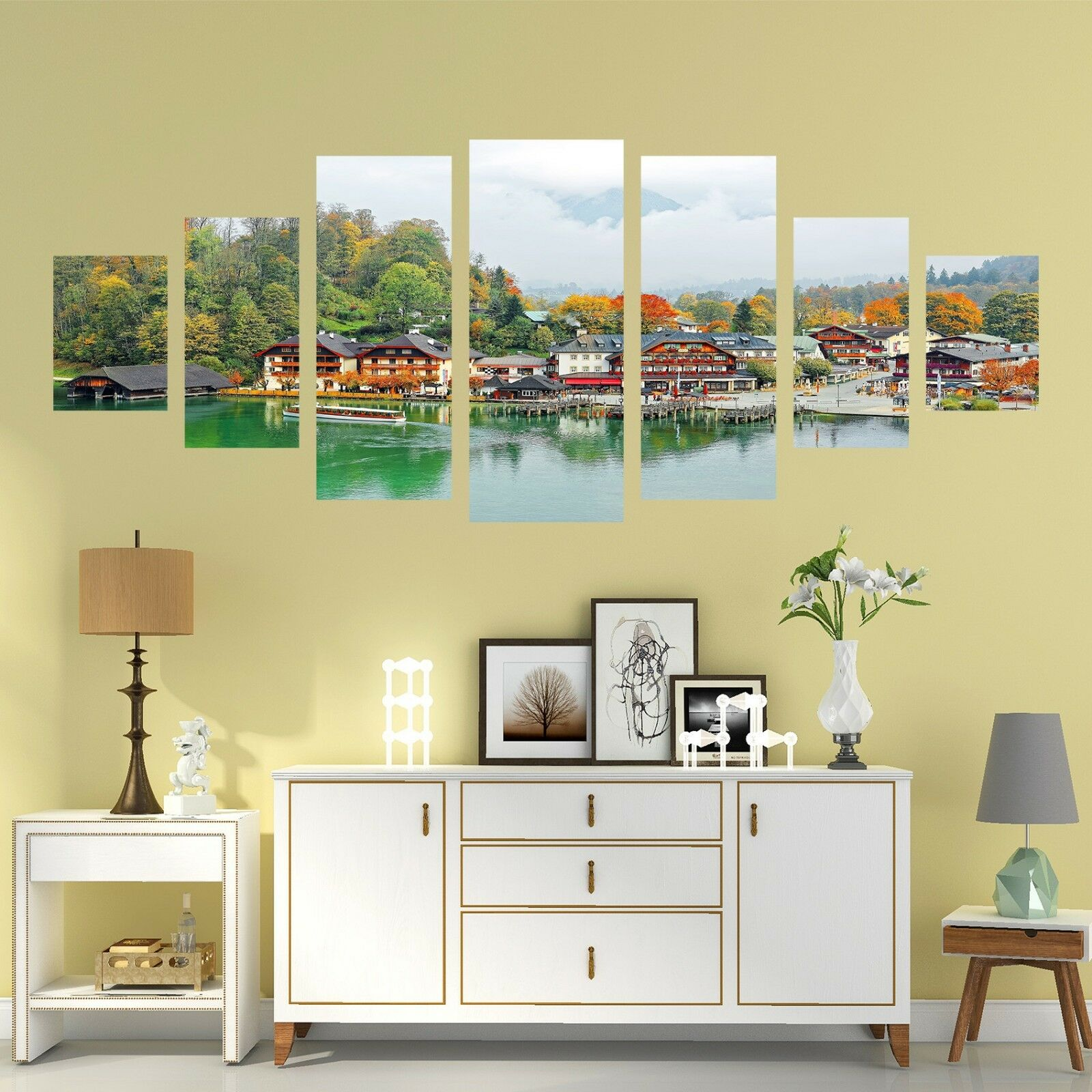 3D Village 882 Unframed Print Wall Paper Decal Wall Deco Indoor AJ Wall Jenny