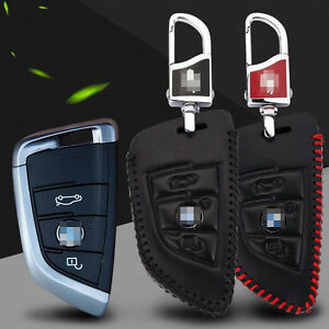 High-Quality-Leather-2-buttons-Remote-Smart-Key-Fob-Case-Holder-Cover-for-BMW