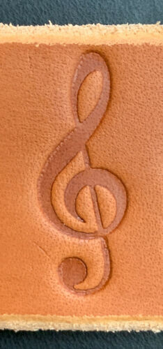 Music Themed Clicker Stamp Delrin Various DesignsLeather Embossing Stamp