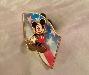 2b6f31f3d62 Disney Patriotic Mickey Mouse American USA Flag 3D Pin Stripes Stars ...