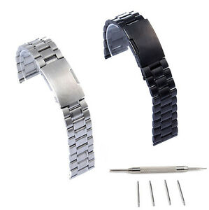 22mm-Stainless-Steel-Watch-Band-For-Fossil-Q-Founder-2-0-Marshal-Wander