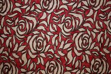 Roses Burnout Floral Jersey Knit Print #38 Poly Rayon Spandex Lycra Fabric BTY