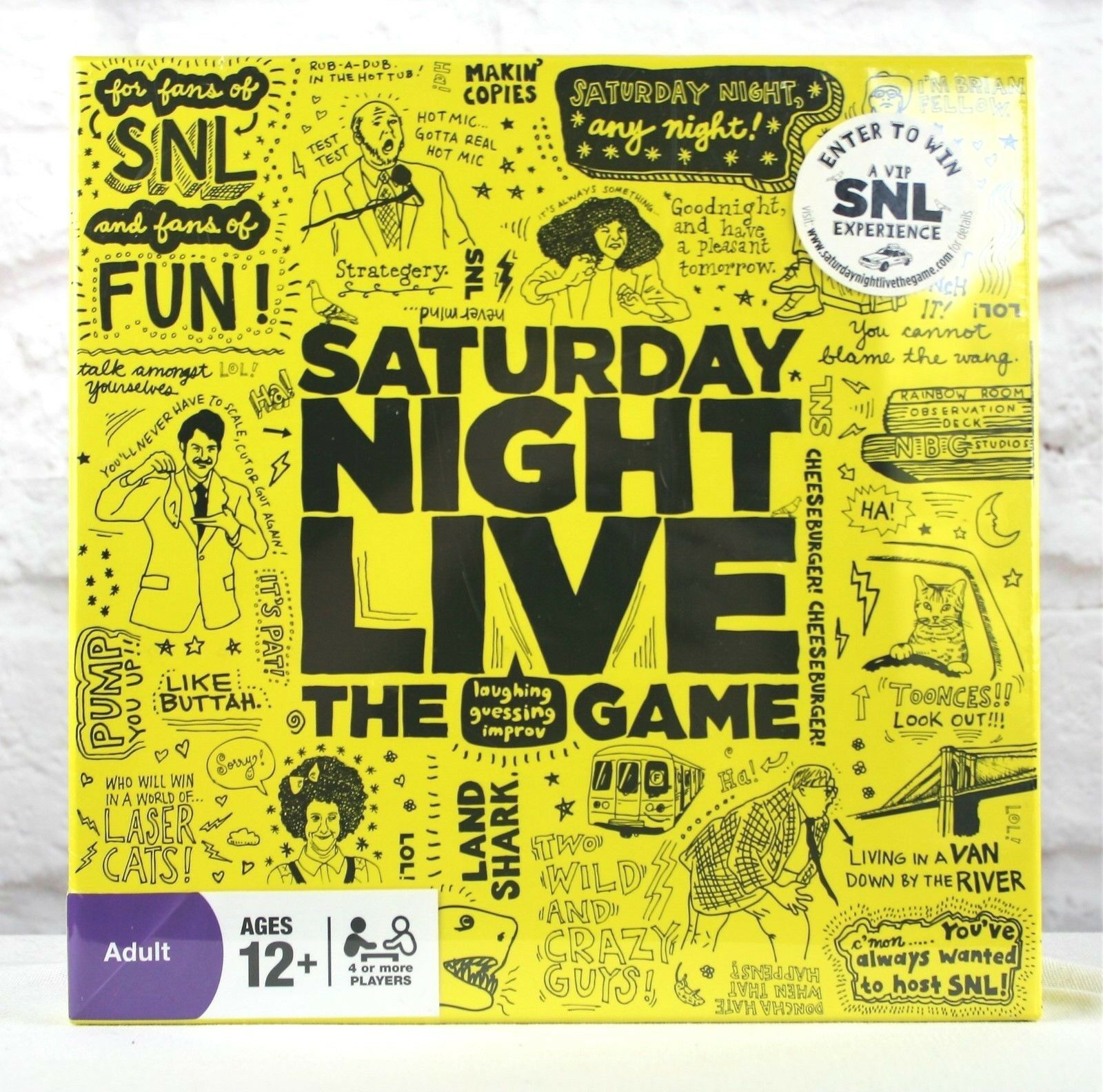Saturday Night Live Trivia Board Game Family Night SNL TV Show Game 12 Up