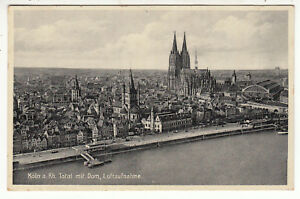 Carte Total Allemagne.Details Sur Carte Postale Poftkarte Allemagne Koln Total Mit Dom Luftaufhme