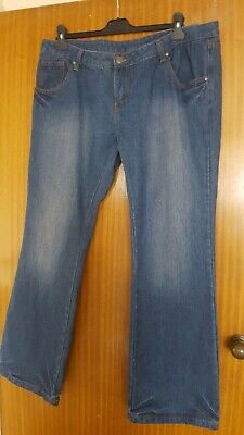 Ladies Boot cut stretch Jeans with contrast side tape Blue UK 6-14
