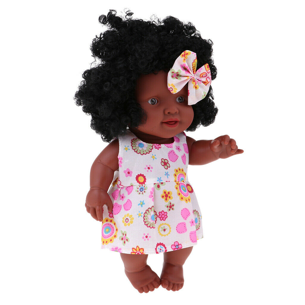 12inch African American Doll Black Baby Girl Figures with Accessories, Play