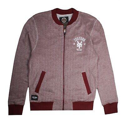 Burgundy Sizes S,M,L,XL Zoo York Logo Mens Bomber Zip Jacket