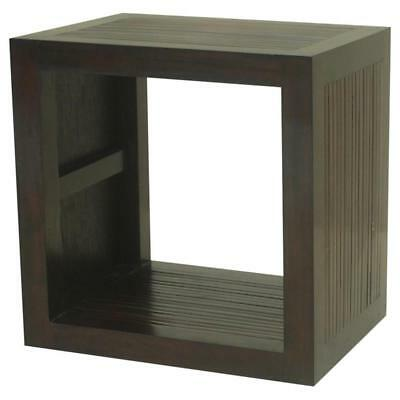 Modulo a cubo in Mogano massello Scuro-Legno MASSELLO Etnicart