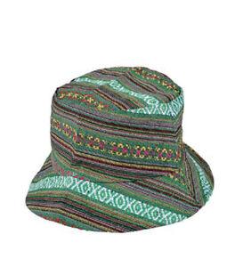 Aztec Canvas Hippy BUCKET SUN HAT PARTY FESTIVAL Raves Clubs B W ... 6328d6b05ae