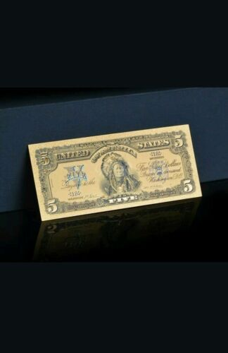 ☆ ONE ☆AMAZING ☆ 《1899 SILVER CERTIFICATE》 INDIAN CHIEF  $5 Rep.*Banknote