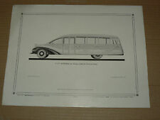 Planche Auto carrosserie Auto Car LANCIA  OMICRON  bus camion truck brochure
