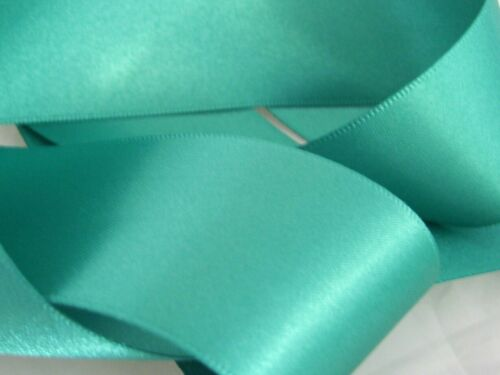 Jade Green Double Sided Satin Ribbon 3mm 6mm 10mm 16mm 25mm 38mm