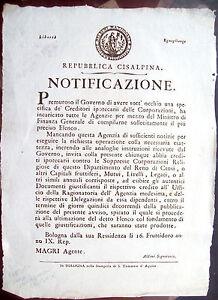 1800-BOLOGNA-BANDO-REPUBBLICA-CISALPINA-CREDITI-CORPORAZIONI-RELIGIOSE-SOPPRESSE