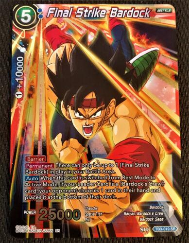 Final Strike Bardock TB3-019 SR Dragon Ball Super TCG Near Mint