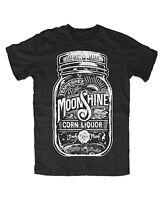 Moonshine Glass Premium T-shirt Schnaps Brennen,destille,alkohol,kult,schwarz