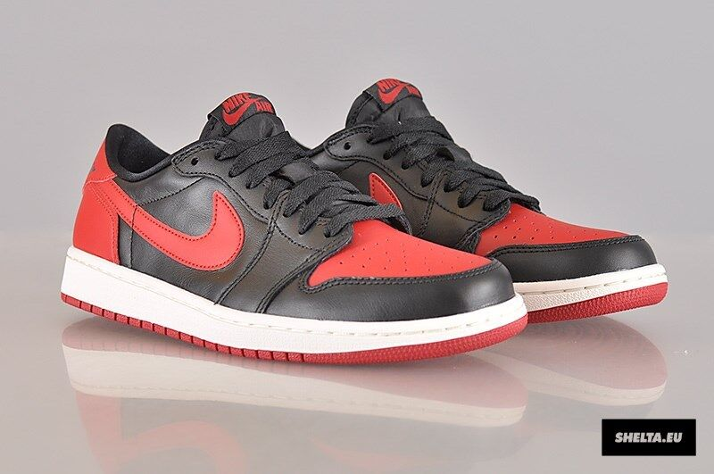 2018 NIKE AIR JORDAN 1 RETRO LOW OG BRED Comfortable The most popular shoes for men and women